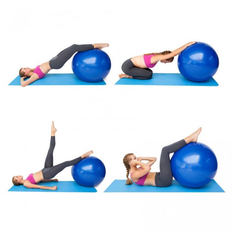 Упражнения при сколиозе на мяче картинках